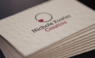 Unique Letterpress Business Card – Nichole Fowler