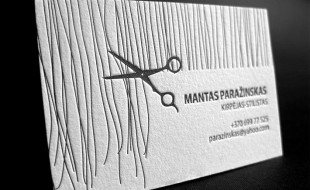 Letterpress Business Card – Hair Stylist