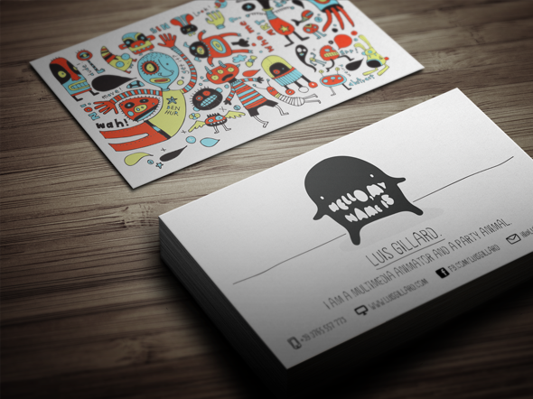 11 amazing business card templates for djs cardrabbit cool and creative business card template fbccfo Image collections