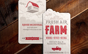 Unique Business Card - Fresh Air Farm