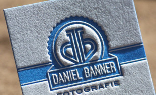 Unique Letterpress Business Card – Daniel Banner