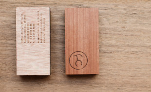 Unique Wooden Business Card – Fat Cow