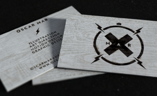 Cool Wooden Business Card - Oscar Mar
