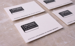 Minimalistic Business Card – David Petro Book & Paper Restorer