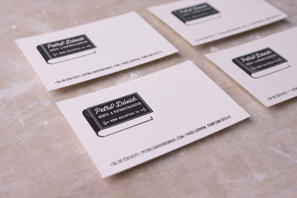 Minimalistic business card david petro book paper restorer inshare reheart Image collections