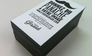 Black & White Letterpress Business Card – Studio Giraud