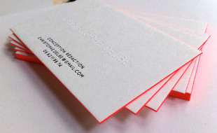 Cool Letterpress Business Card - Christophe Delbe