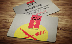 Cool Business Card Design - Deseo Restaurant