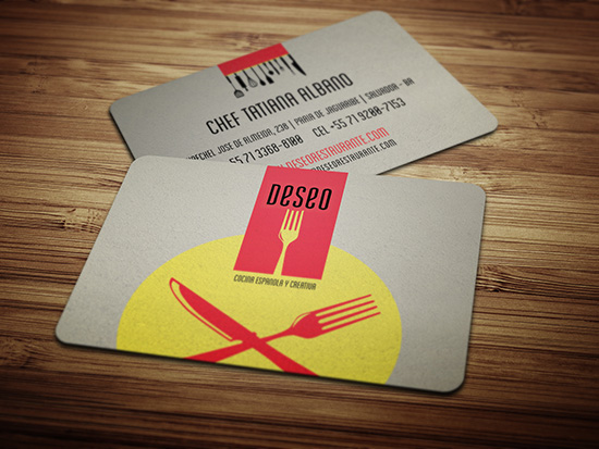 Cool business card design deseo restaurant cardrabbit inshare reheart