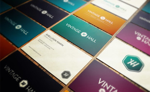 Cool Business Cards - Vintage Hall