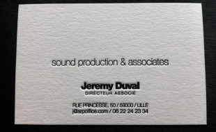 Cool Letterpress Business Card - Arp Office