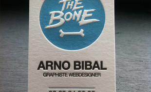 Cool Letterpress Business Card - The Bone