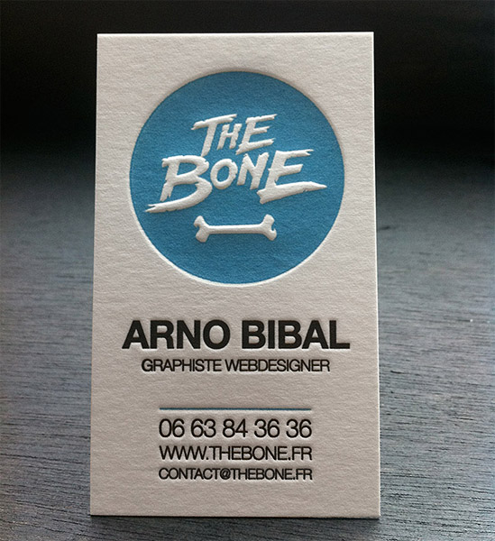 Cool letterpress business card stephen di donato cardrabbit cool letterpress business card the bone reheart Choice Image