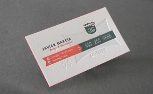 Cool Letterpress Business Card – Javier Garcia