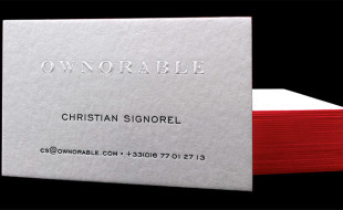 Cool Letterpress Business Card - Ownorable