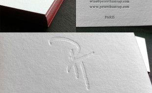 Cool Letterpress Business Card – Peter Thustrup