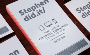 Cool Letterpress Business Card – Stephen Di Donato