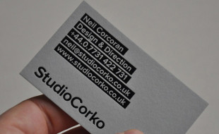 Cool Letterpress Business Card -StudioCorko