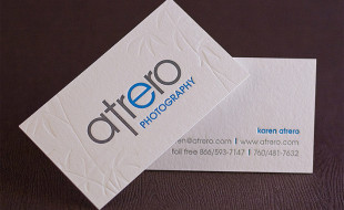 Great Letterpress Business Card - Atrero Photography