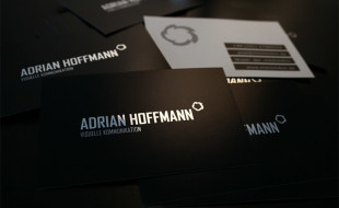 Cool Minimalistic Business Card - Adrian Hoffmann
