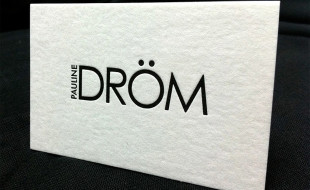Cool Minimalistic Letterpress Business Card - Pauline Dröm