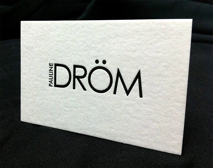 Cool minimalistic letterpress business card pauline drm inshare reheart Images
