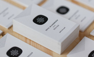 Cool Minimalistic Letterpress Card – Seth Nickerson