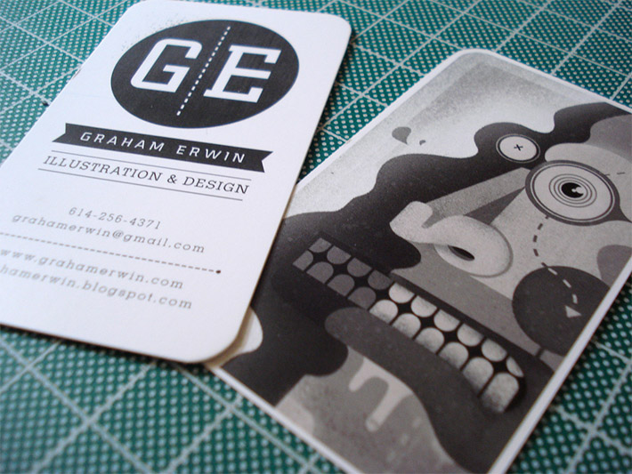Creative business card graham erwin cardrabbit inshare colourmoves