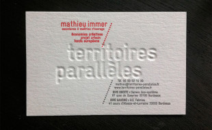 Creative Business Card - Territoires Paralleles