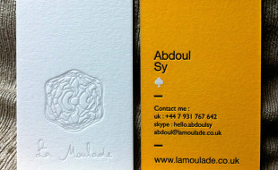 Creative Letterpress Business Card - La Moulade