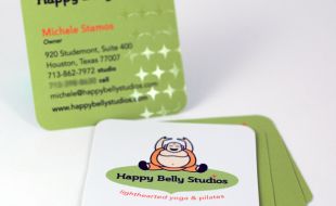 Custom Business Card with Rounded Corners – Happy Belly Studio