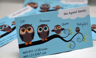 Cute Business Card - Owl Family