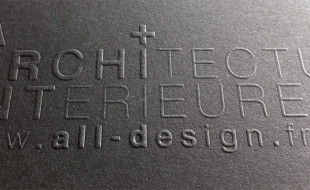 Letterpress Business Card - All Design
