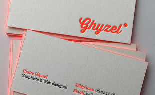 Letterpress Business Cards - Ghyzel