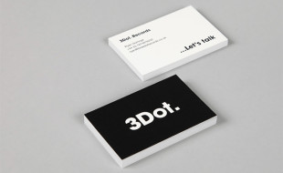 Minimalistic Business Card - 3Dot Records