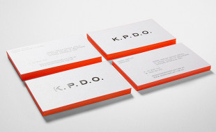 Minimalistic Letterpress Business Card - KPDO