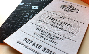 Unique Cool Letterpress Business Card - Data Yard