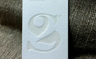 Unique Letterpress Business Card - 2S