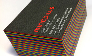 Unique Letterpress Business Card - MindPills