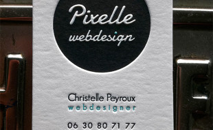 Unique Letterpress Business Card - Pixelle Webdesign
