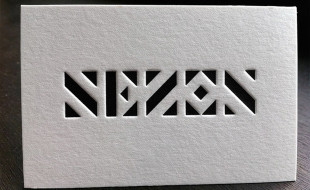 Unique Letterpress Business Card - Sezon