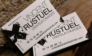 Unique Letterpress Business Card - Vincent Rustuel