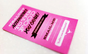 Unique Pink Business Card - DashingDish