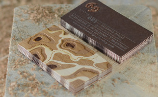Unique Wood Veneer Business Cards - Mackey Saturday