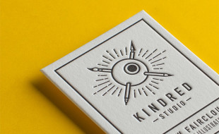 Cool Letterpress Business Card – Kindred