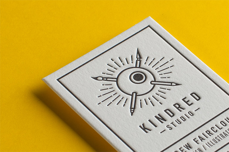 Cool Letterpress Business Card - Kindred