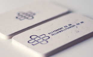 Recycled Stamped Business Cards – Olly Sorsby