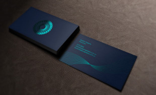 Cool Foil-Stamped Business Card - Pilates