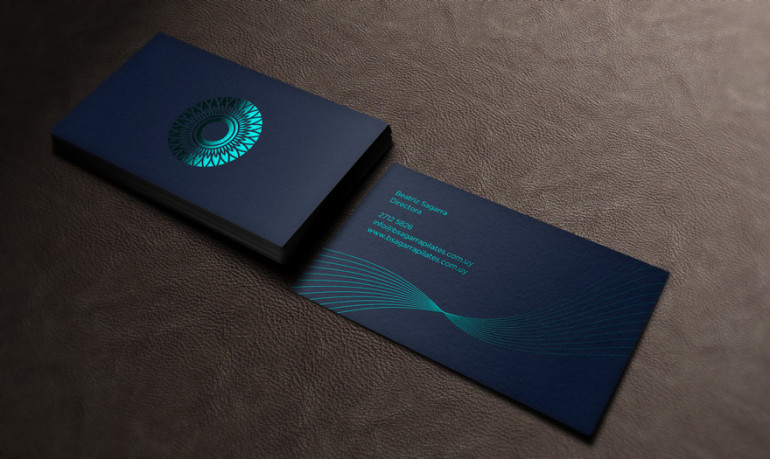 cool foil stamped business card pilates - Foil Stamped Business Cards