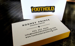 Cool Letterpress Business Card - FootHold